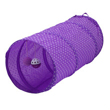 New Cat Tunnel Collapsible 2 holes With Bells Kitten Toy Rabbit Cave Top Quality juguetes para gatos