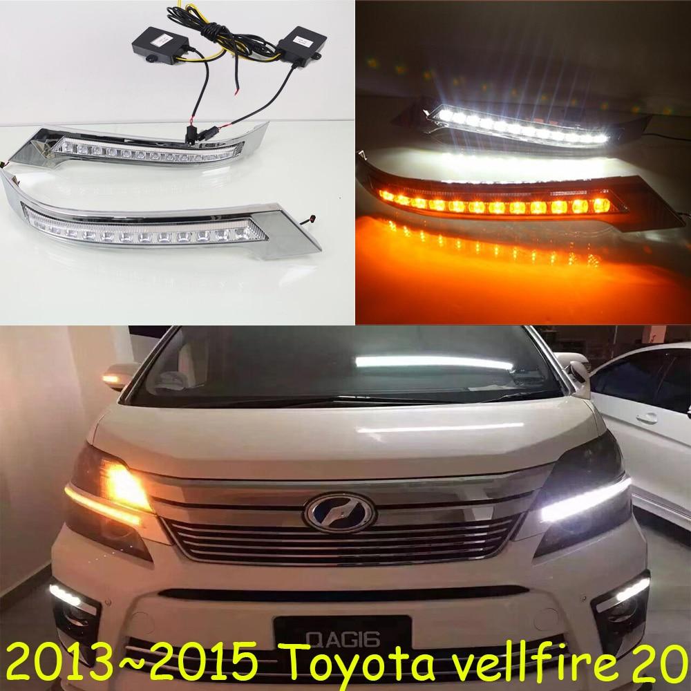 Car Bumper Headlight For Toyota Vellfire Daytime Light 20 30 2013~2018car Accessories LED DRL Headlight For Vellfire Fog Light