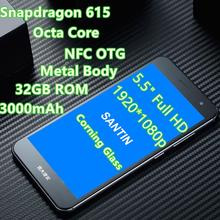 "Snapdragon 615 SANTIN ACTOMA ACE NFC OTG 5.5"" Full HD Corning Glass Metal 32GB ROM 13MP Smartph one 4G LTE Phone KIICAA POWER M9"