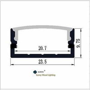 Image 4 - 10 30 יח\חבילה, 2 m/pc אלומיניום פרופיל שורה כפול led הרצועה, חלבי/שקוף כיסוי עבור 20mm pcb, פרופיל עבור גבוהה כוח led