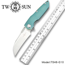 TwoSun D2 blade folding knife Pocket Knife tactical knife camping knife hunting Outdoor tool EDC Ball Bearing Fast Open G10 TS48 200mm 100% d2 blade ball bearing knives g10 handle folding knife survival camping tool hunting pocket knife tactical edc outdoor