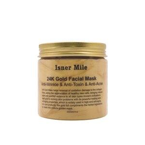 Image 5 - ISNER MILE 24K Gold Face Mask Collagen Facial Mask Mud Moisturizing  Pore Strip Peeling Nose Mask for Skin Cares Washable Mask