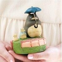 Hayao miyazaki totoro ghibli şemsiye dönen müzik kutusu