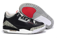 2017 Basketball Jordan Retro Shoes 3 Sports Shoes Mens Leather Sneakers White Black Breathable Low