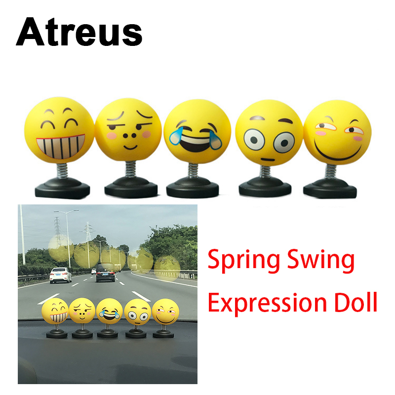 Atreus 1X Car Styling 3D Funny Face Decoration Stickers For Mitsubishi Outlander Asx Kia Rio Ceed Sportage Seat leon ibiz holder yuzhe leather car seat cover for mitsubishi lancer outlander pajero eclipse zinger verada asx i200 car accessories styling