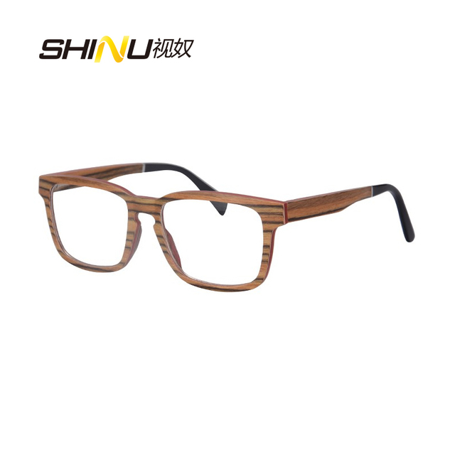 Puramente Artesanal de Madeira Vidros Ópticos Enquadrar Oculos de grau Mulheres Homens Armação de óculos Retro Óculos Vintage Quadro SH73008