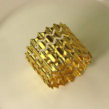 5PCS stainless steel napkin ring gold silver wave meal buckle hotel decoration