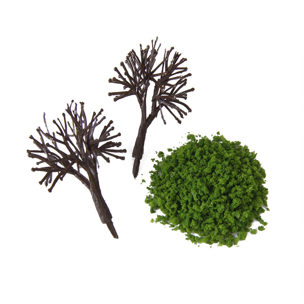 Multicolor 1pcs Leaves Foliage Model for Train Railway Mini Tree Model Landscape DIY Moss Grass Perfect for Hedge Diorama Model