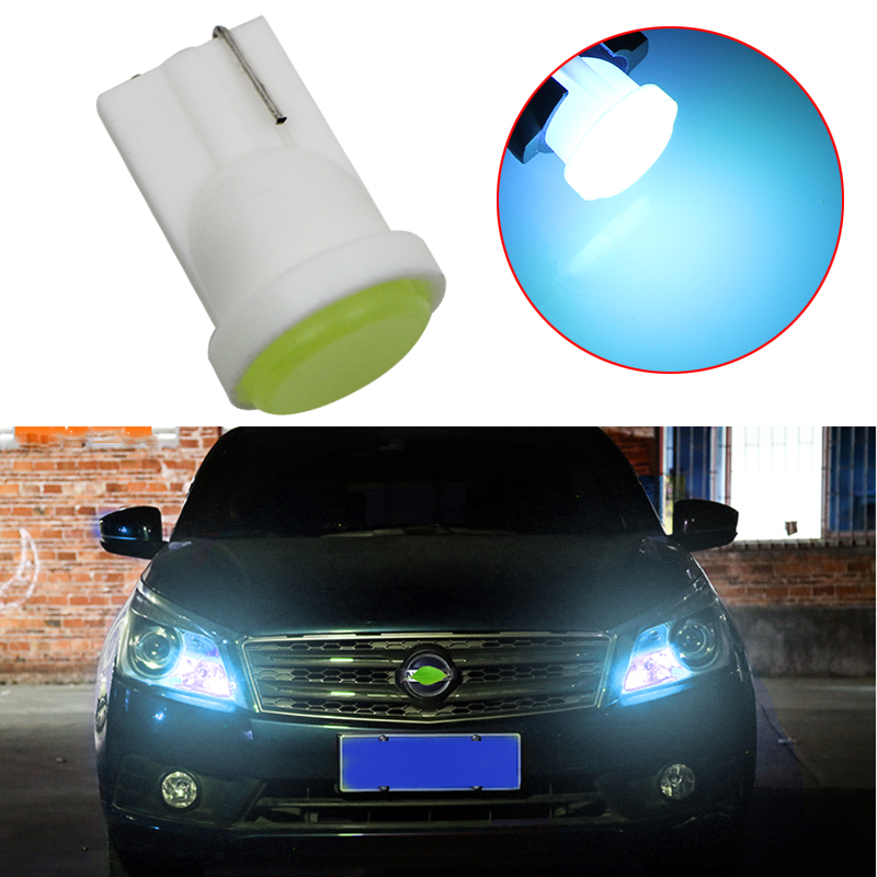 1pcs T10 194 W5W LED Car Parking Light 501 WY5W 1 COB LED Wedge Interior Dome Lamp Auto Turn Side Bulbs License Plate Bulbs 12V