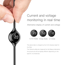 Baseus Big Eye Digital Display USB Cable for iPhone 8 Plus Charger Cable with Magnetic Sheet for iPhone xs max Charging Cable
