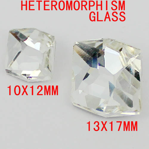Heteromorphism Shape Crystal Color Glass Stones With High Shine And Silver Foiled Crystal Beads Great For Home Decoration Diy 6 30mm 1122 rivoli crystal silver shade stones pointed back glass beads great for crafts nail art shoes dresses diy decoration