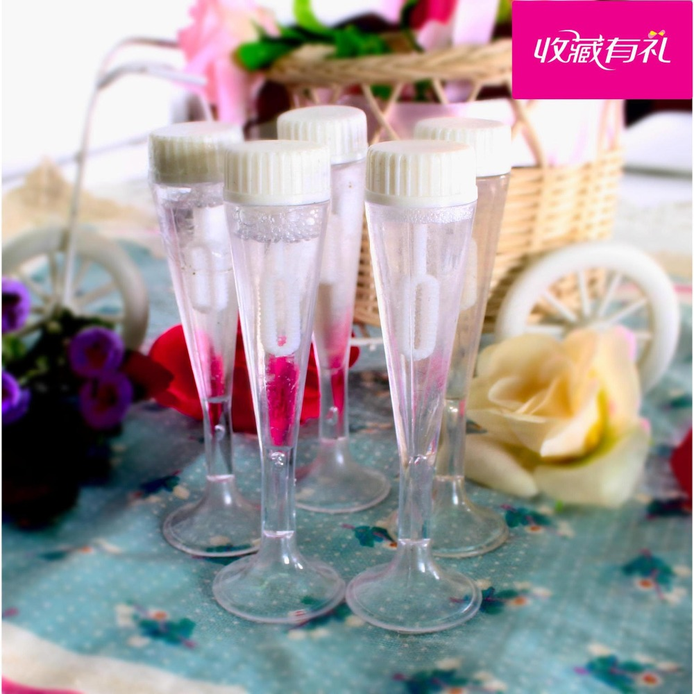 free shiping 10Pcs/Lot Empty Bubble Soap Bottles Home Wedding Xmas ...