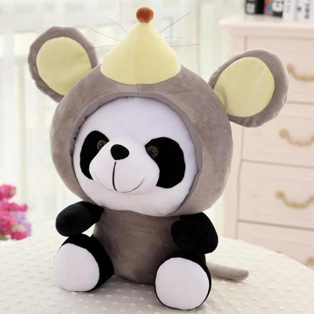 Китайский стиль Kawaii Китайский Зодиак панда плюшевая игрушка мягкие животные мышь скот собака кукла в виде плюшевого кролика милый подарок для детей