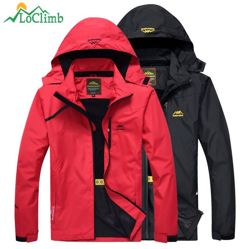 LoClimb Camping Hiking Jacket Men Autumn Outdoor Sports Coat