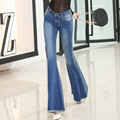 2017 New Fashion Flare Pants Jeans Women Ladies Jeans Denim Plus Size Female Flare Jeans  spring winter jeans trousers
