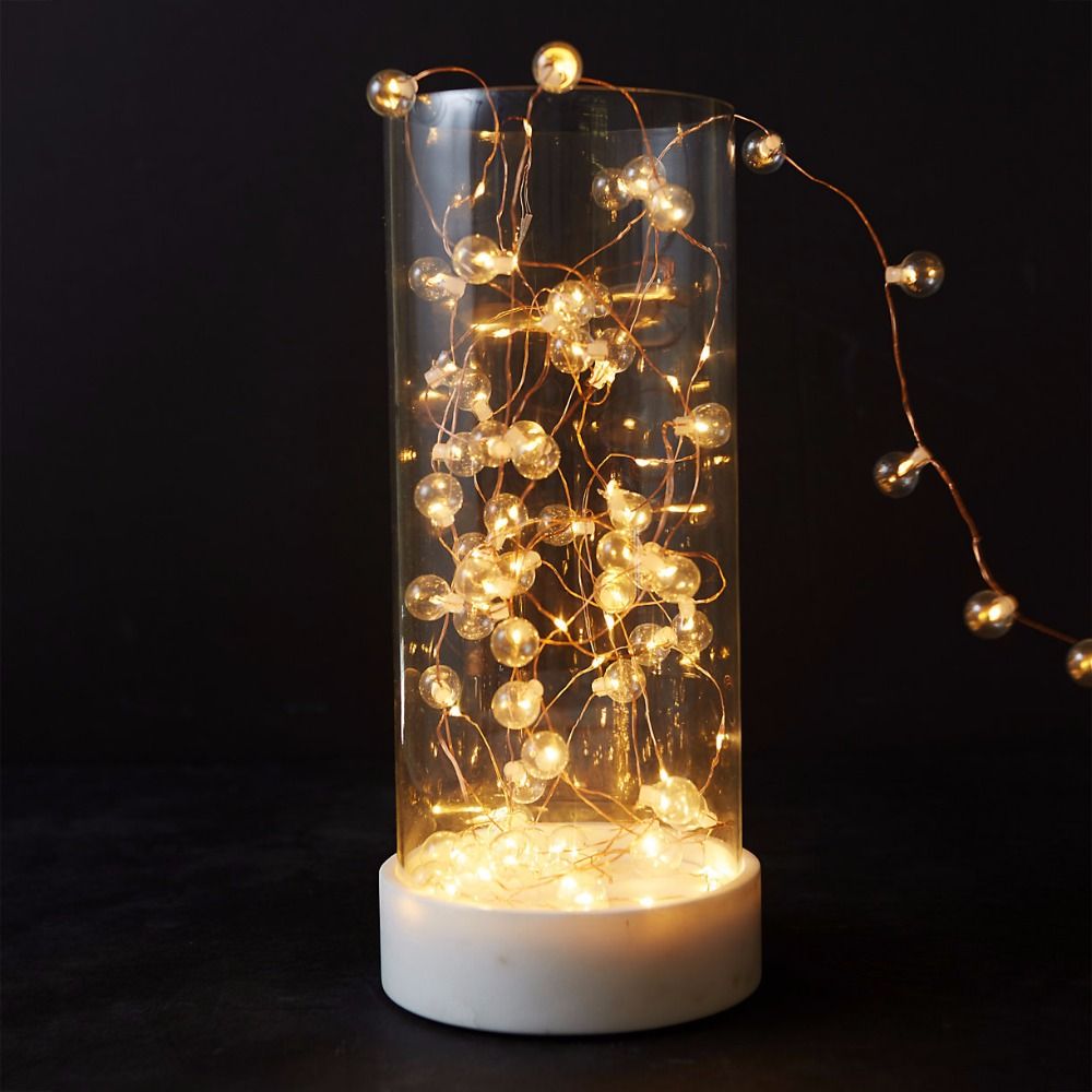 battery powered glass bubble string lights gerlyanda decorative led christmas lights for party holiday decoration garland in led string from lights