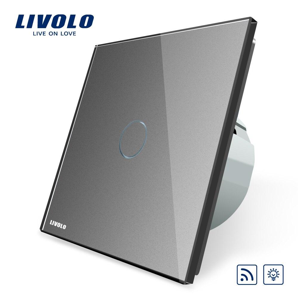 Interrupteur Standard Livolo EU, AC 220 ~ 250 V, interrupteur d'éclairage mural à distance et variateur, VL-C701DR-1/2/3/5 (pas de télécommande)