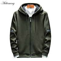 Hoodies Men Zipper 2018 Spring Casual Mens Hoodies Sweatshirts Cotton Thick Top Fashion Men Hooded Jackets