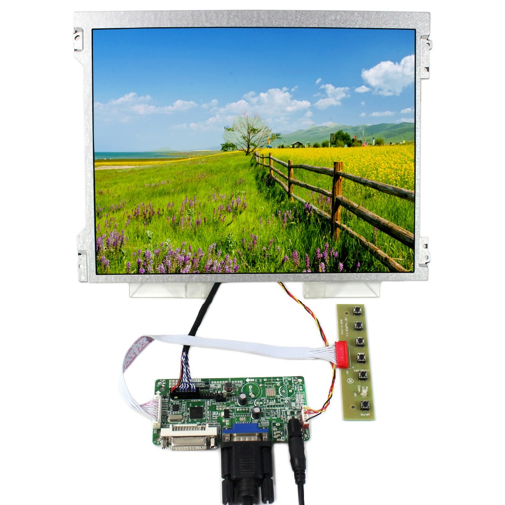 DVI VGA LCD Controller Board+12.1 M121GNX2 1024x768 LED Backlight LCD Screen new 661 5976 lcd backlight board for imac 21 5 a1311 led display screen backlight inverter board v267 707 late 2011