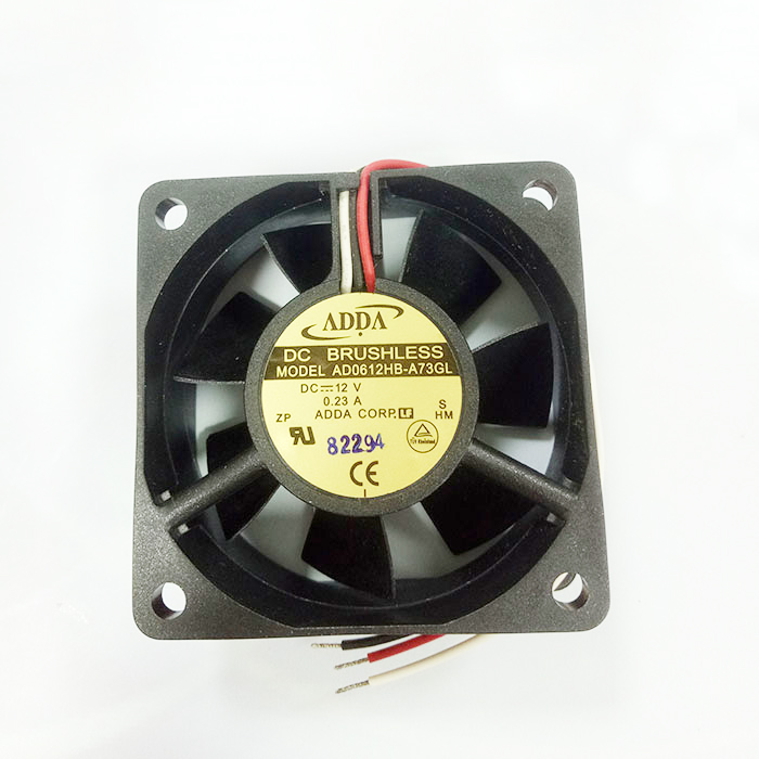 for ADDA DC BRUSHLESS FAN  AD0612HB-A73GL ~ 12V ~ 0.23A 3 wire