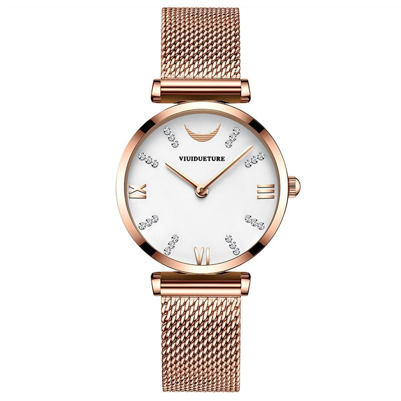 New 2019 large brand stainless steel mesh belt women 39 s sportswear simple leisure fashion sports watch quartz waterproof watch in Women 39 s Watches from Watches