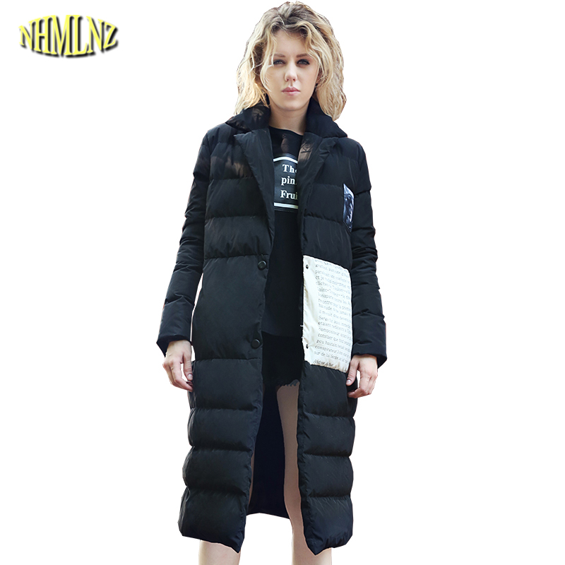 Women Winter Coat Hoody Single breasted Snap Cotton coat High quality European style Solid color Thicker Long Jacket WK320 5pcs lot high quality 2 pin snap in on off position snap boat button switch 12v 110v 250v t1405 p0 5