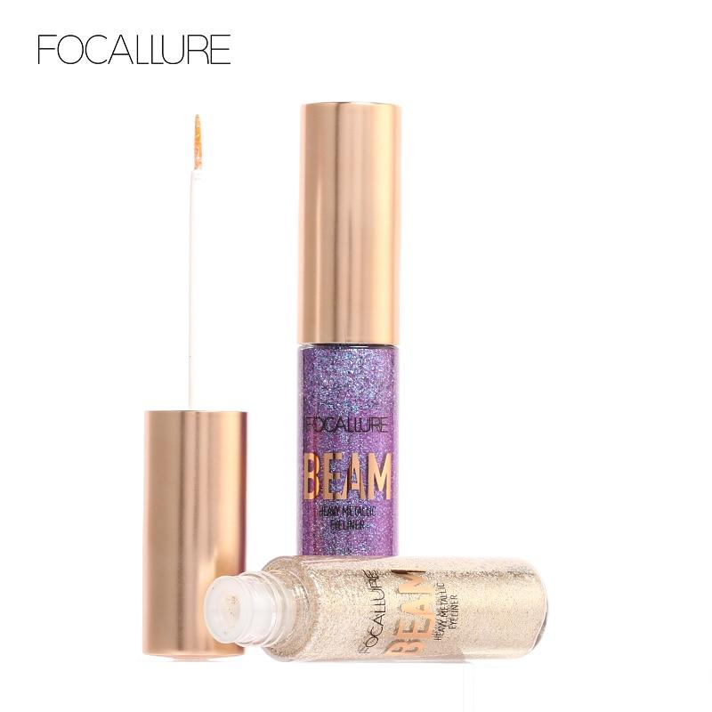 FOCALLURE New Product Glitter Eyeliner Eyeshadow 5 Colors Long Lasting Waterproo