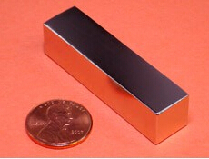 NdFeB Magnet Block 2x1/2x1/2 thick Strong Neodymium Permanent Magnets Rare Earth Magnets Grade N42 NiCuNi Plated trouble magnet 2
