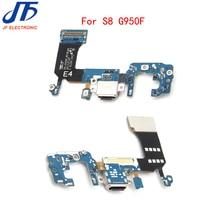 50pcs/lot For Samsung Galaxy S8 G950F / G950U charger charging connector usb dock port plug flex cable Ribbon