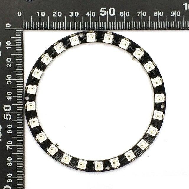 WS2812B bande de Module 24 Bits 24 X WS2812 5050 RGB LED anneau lampe lumière avec pilotes intégrés Ws2812 RGB 24