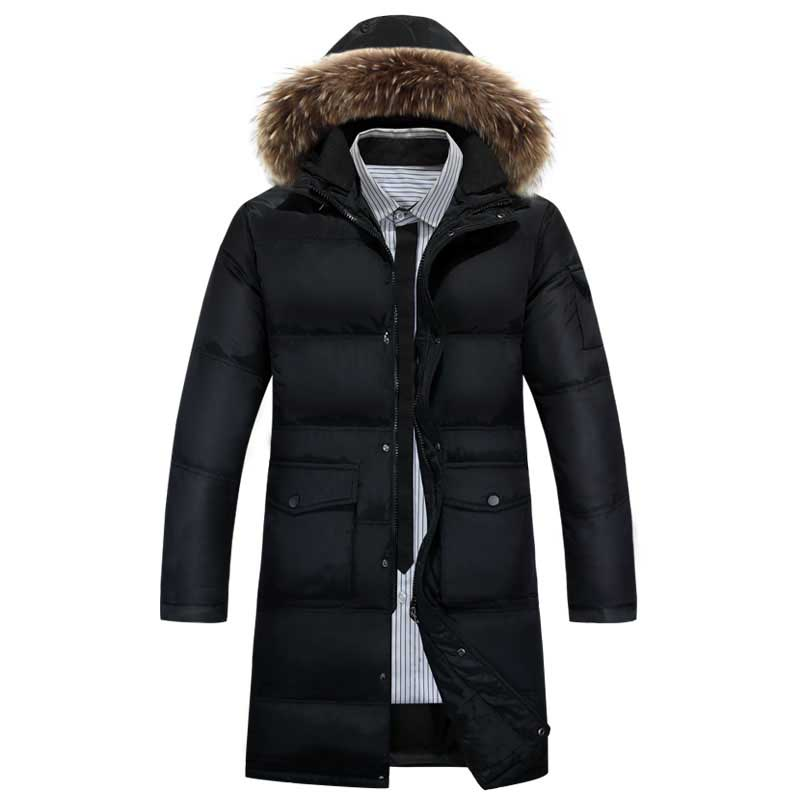 new product 6336f 4ce37 Jacken männer winter daunenjacke parka männer Lange Dünne ...