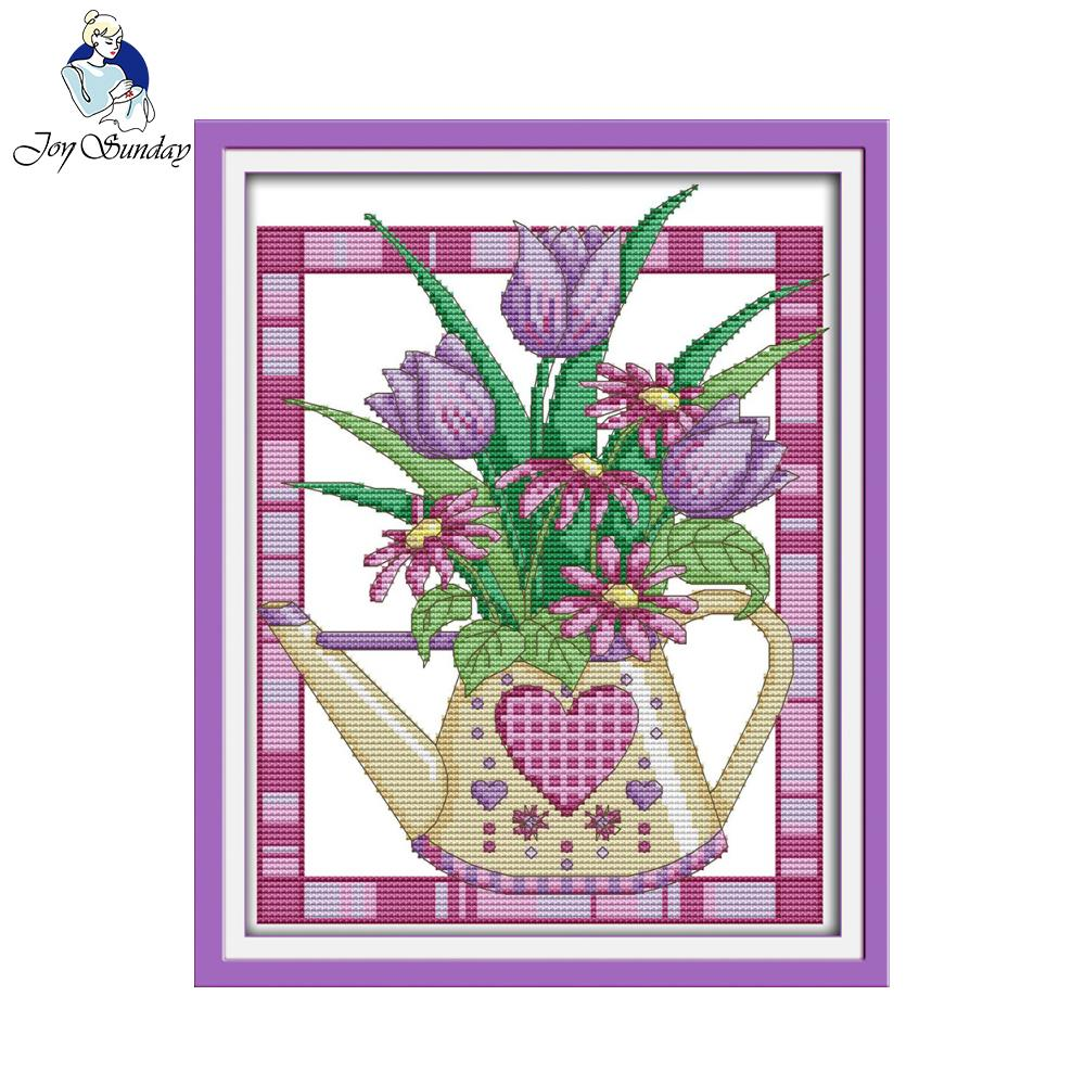 Freude Sonntag blume stil Ein purple tulip vase kreuzstich geschenk ...
