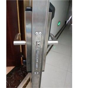 Image 5 - RAYKUBE ספרות טביעות אצבע דלת נעילת Keyless כניסה חכם נגד גניבה מנעול אבטחת בית עם RFID קורא R FZ3