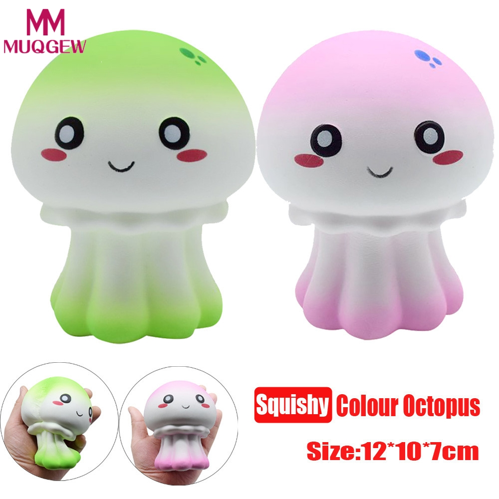 12*10*7cm Octopus gifts New squishy Colour Octopus Scented Squishy Slow Rising Squeeze Toy stress reliever Gift