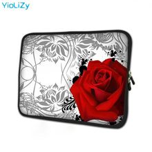 LAPTOP Rose Cetak Tablet Tas Notebook Cover Pelindung 7 9.7 12 13 13.3 14 15 15.6 17 17.3 Inch Ultrabook liner Lengan NS-9387(China)