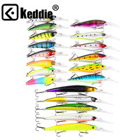 19/pcs Isca Artificial Pesca Fishing Lure 3D Eye Minnow Hard Bait with 2 Fishing Hooks crankbait Fishing Tackle Lure