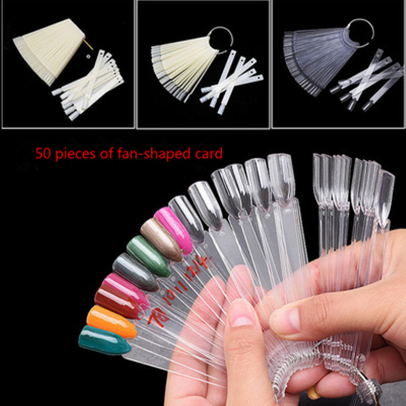 50 pieces of transparent nails show false nail art Qingyou oil color ...