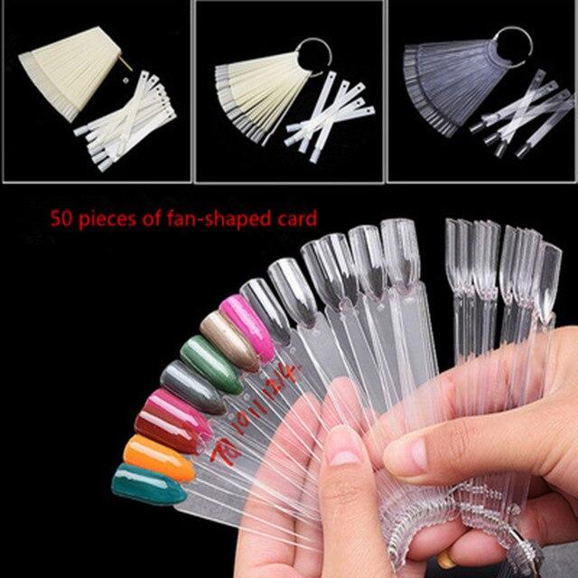 50 pieces of transparent nails show false nail art Qingyou oil color ...