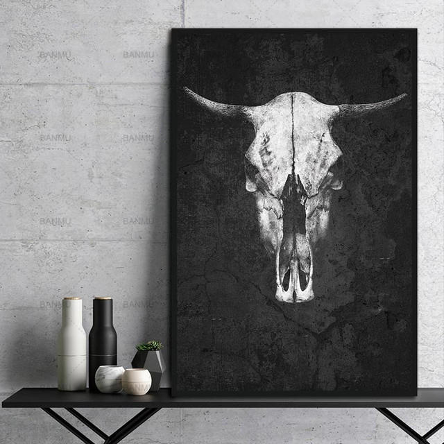 Nordic Black And White Animal Canvas Painting decoration for the living room wall art picture on the canvas Without Frame