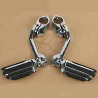 1 1 4 Long Angled 360 Adjustable Highway FootPeg Footrest Mount For Suzuki Yamaha Harley 32mm