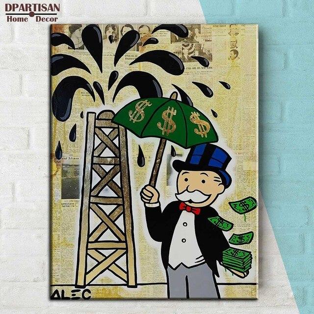 rich tree rains Alec monopoly Graffiti arts print canvas for wall ...