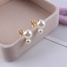 JIOFREE Simulated Pearl Statement Clip on Earrings Women Wedding Party no pierced Earrings Maxi Jewelry Love Christmas Gift
