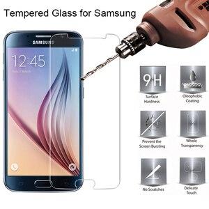 9 H HD الهاتف الثابت واقي للشاشة الزجاج المقسى لسامسونج غالاكسي S6 S7 S2 طبقة رقيقة واقية لسامسونج S5 البسيطة S4 s3 Neo S III