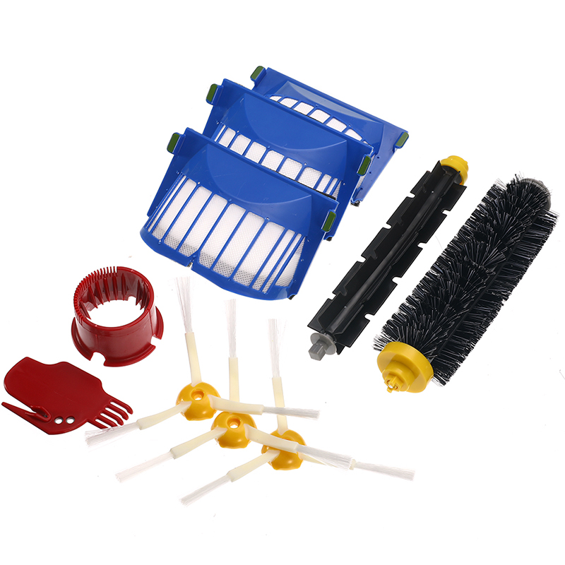 6-15Pcs/Set Filter Brush Kit Cleaning Tools Beater Brush Filters Kit for IRobot Roomba 600 Series 605 615 616 620 621 631 651 image