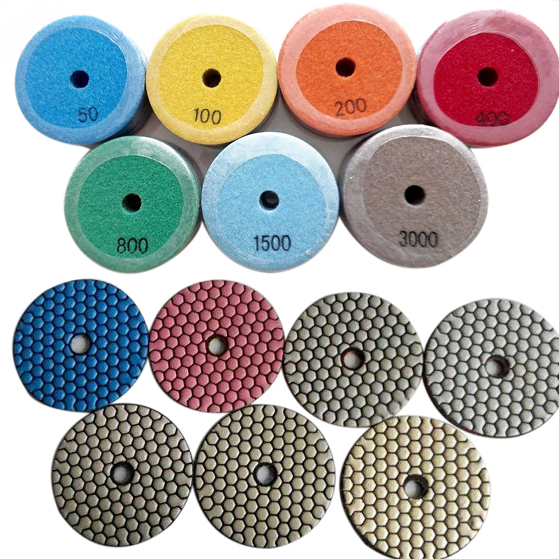 купить 20pcs/lot Professional 4 inch/100mm Dry Diamond Polishing Pads Set For Granite Quartz Marble Concrete недорого