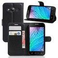Cyboris para samsung galaxy j3 2016 telefone estojo de couro para samsung galaxy j3 2016 flip tampa do suporte da carteira cartão bolsa titular