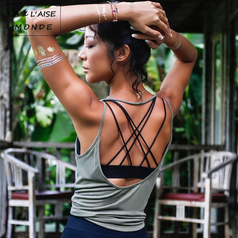 Женский дышащий Топ для фитнеса, йоги, гимнастики, тренировок, майка, Сексуальная Спортивная футболка с открытой спиной, женская футболка для бега, спортивный короткий топ