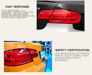 Image 5 - Vidéo, 4 pièces style de voiture pour E92 feux arrière 2007 ~ 2011 pour E92 feu arrière LED + clignotant + frein + lumière LED arrière