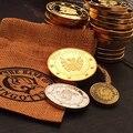 Хогвартс партии cosplay аксессуары Волшебников Гринготтс Банка МОНЕТЫ Галеонов памятная монета творческий ребенок подарок