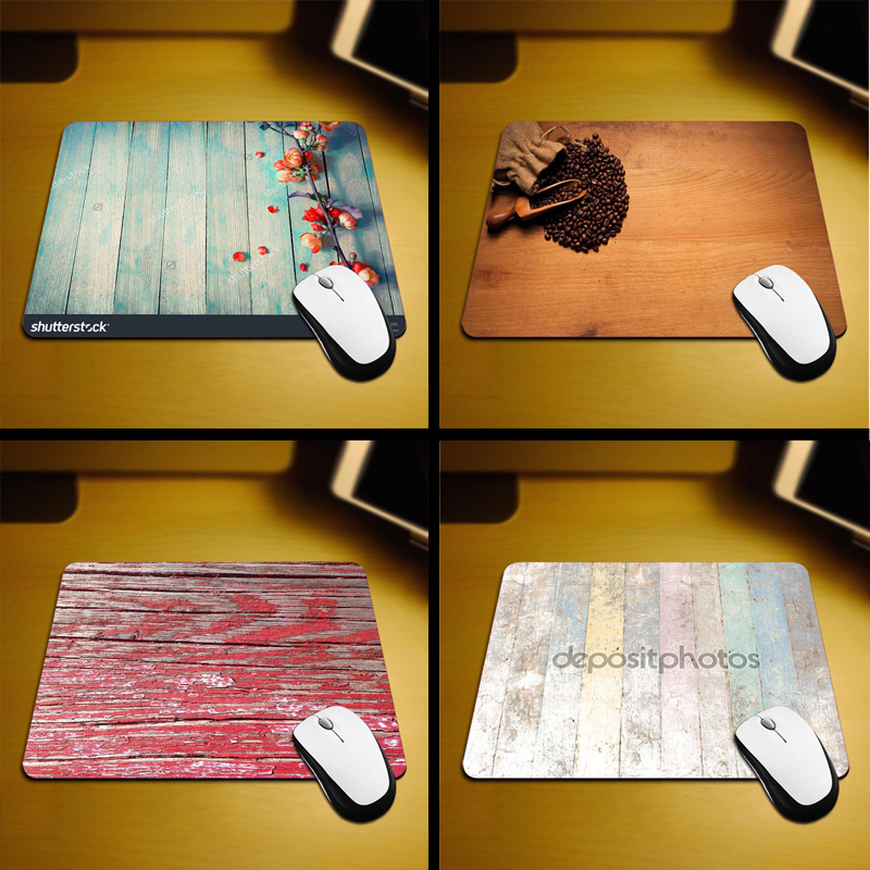 2017 Hot A Wood Background Sell New Small Size Mouse Pad Non-Skid Rubber Pad 220mmX180mmX2mm and 250mmx290mmx2mm